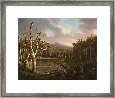 Lake With Dead Trees  Framed Print by Thomas Cole