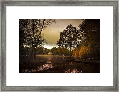 Lakefront Evening Framed Print by Barry Jones