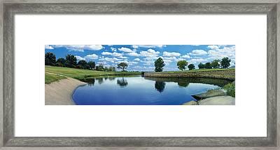 Lakeridge Duck Pond Framed Print by Robert Hudnall