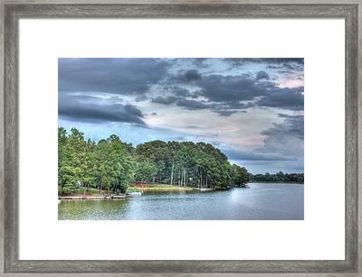 Lakeside 2 Framed Print by Barry Jones