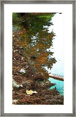 Lakeside And Me Framed Print by Steven Lebron Langston