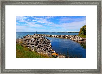 Framed Print featuring the photograph Lakeside Bend by Davandra Cribbie