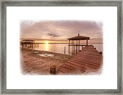 Lakeside Framed Print by Debra and Dave Vanderlaan