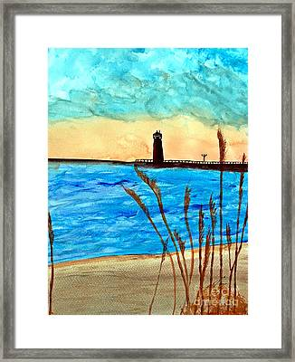 Lakeside Luxury Framed Print