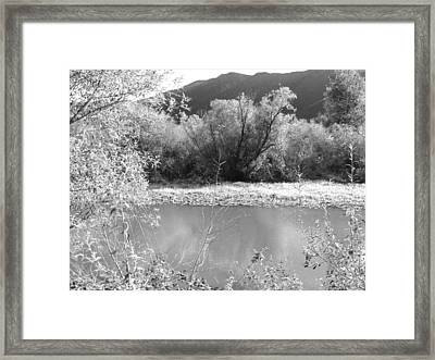 Lakeside Mountain View Framed Print