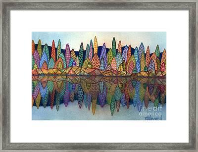 Lakeside Reflection Framed Print by Anne Havard