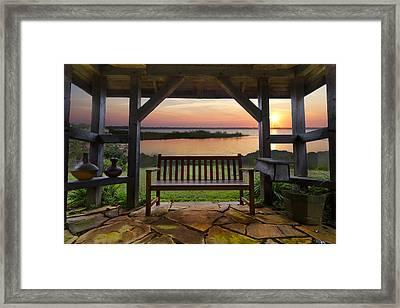 Lakeside Serenity Framed Print by Debra and Dave Vanderlaan