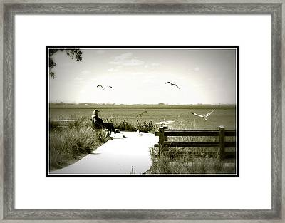 Lakeside Solitude Framed Print