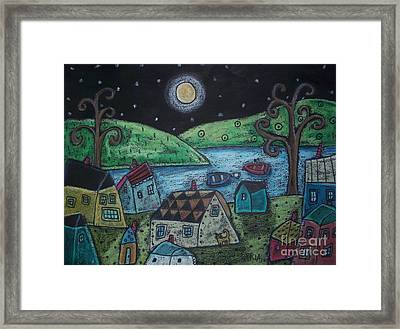 Lakeside Town Framed Print by Karla Gerard