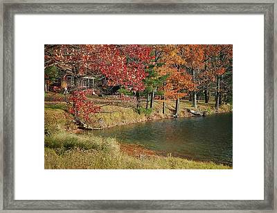 Lakeside View Framed Print