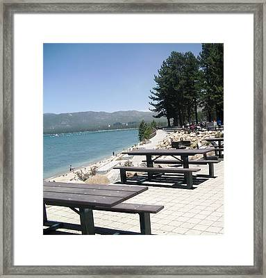 Lakeview Commons Framed Print by Carol Duarte