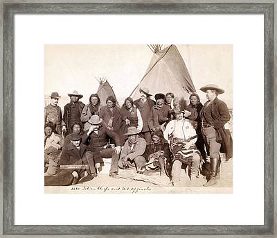 Lakota Brul�, Miniconjou, And Oglala Framed Print by Everett