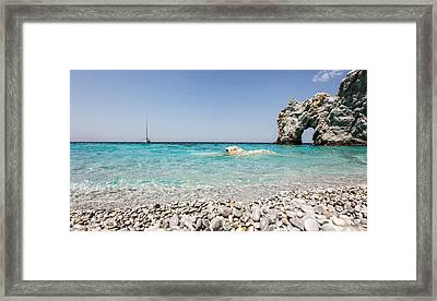 Lalaria Beach Skiathos Island Framed Print by Nick Karvounis