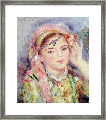 L'algerienne Framed Print by Pierre Auguste Renoir