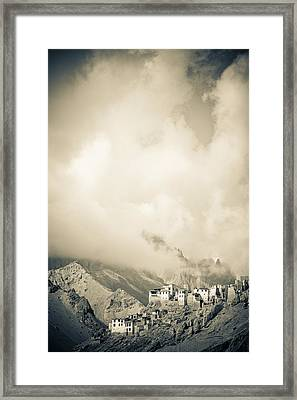 Lamayuru Monastery Sits Amid A Mountain Framed Print by David DuChemin