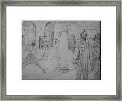 Lamb Of God Framed Print by Noreen Kennedy
