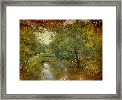 Lambertville Towpath Framed Print