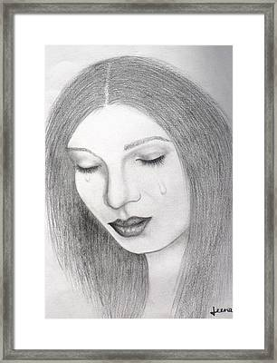 Lamenting Soul Framed Print by Rejeena Niaz