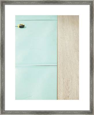 Laminate Flooring Detail. A Green Framed Print