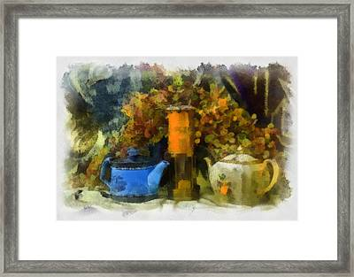 Lamp And 2 Pots Framed Print by Dale Stillman