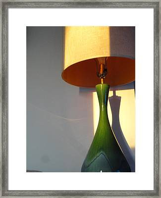 Lamp And Shadows Framed Print by Guy Ricketts