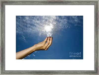 Lamp Bulb Framed Print