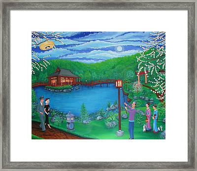 Lamp Lighting Time Framed Print by Tracy Dennison