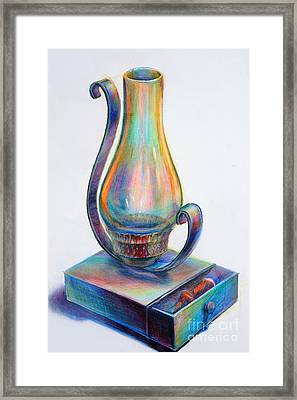 Lamp Framed Print by Marie Jeon