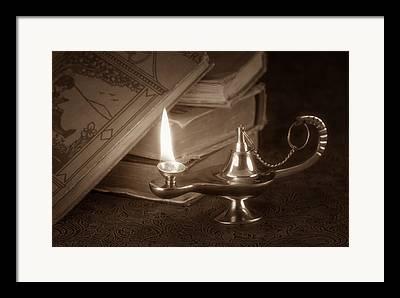 Oil Lamp Photographs Framed Prints