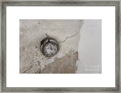 Framed Print featuring the photograph Lamp On The Ceiling by Agnieszka Kubica