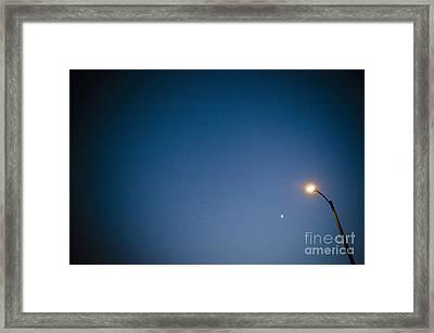 Lamppost At Dusk Framed Print by Sam Bloomberg-rissman