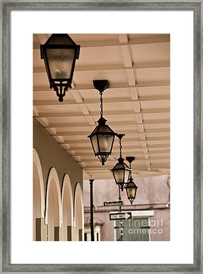 Lamps Framed Print by Leslie Leda