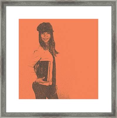 Lana Framed Print by Naxart Studio