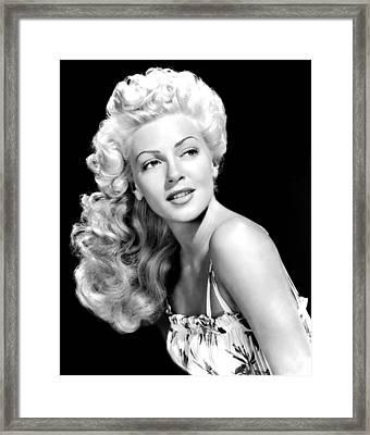 Lana Turner, Mgm, Ca 1940s Framed Print