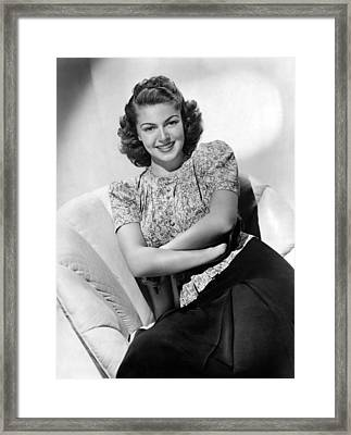Lana Turner, Mgm Portrait, Ca. 1940 Framed Print