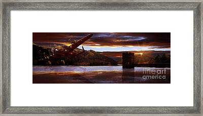 Lancaster Over Howden Dam Framed Print by Nigel Hatton