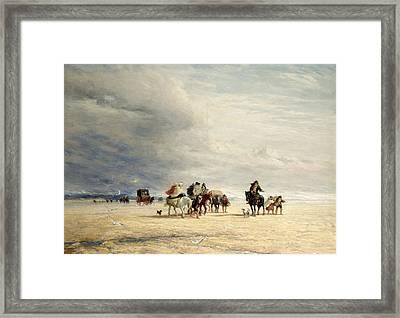 Lancaster Sands Framed Print