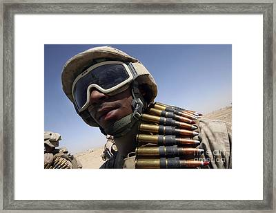 Lance Corporal Waits For His Turn Framed Print by Stocktrek Images