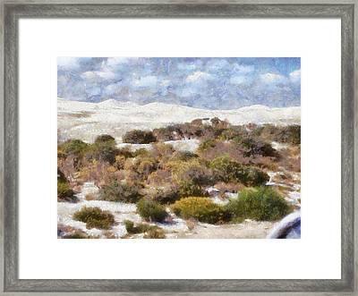 Framed Print featuring the digital art Lancelin White Sands  by Roberto Gagliardi