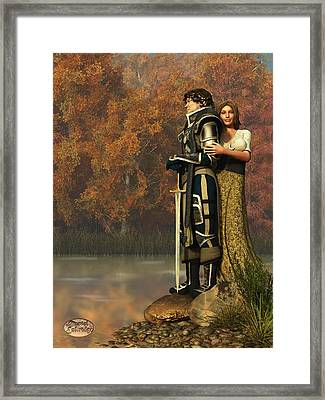 Lancelot And Guinevere Framed Print by Daniel Eskridge