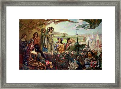 Lancelot And Guinevere Framed Print by Herbert James Draper