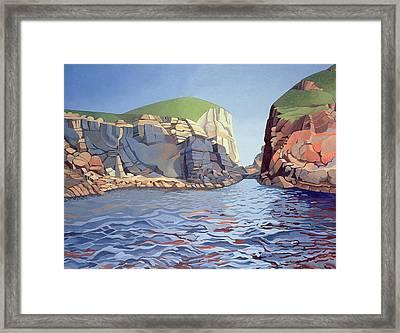 Land And Sea No I - Ramsey Island Framed Print by Anna Teasdale