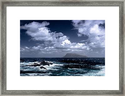 Framed Print featuring the photograph Land In Sight by Edgar Laureano