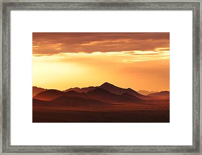 Land Of Sand Framed Print by Christian Heeb