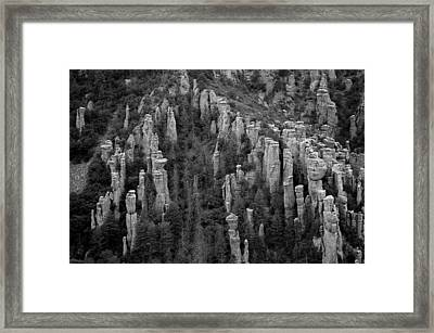 Framed Print featuring the photograph Land Of Standing Up Rock  by Vicki Pelham