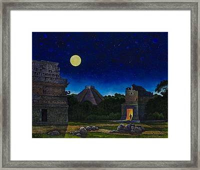 Land Of The Maya Framed Print by Michael Frank