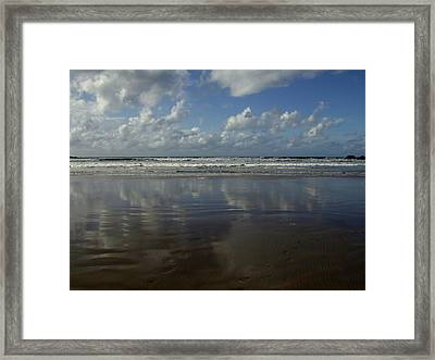 Framed Print featuring the photograph Land Sea Sky by Lynn Hughes