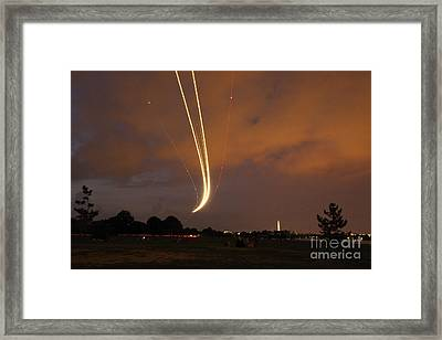 Landing - 8668 Framed Print by Chuck Smith