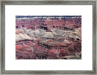 Landing In The Canyon Framed Print by John Rizzuto