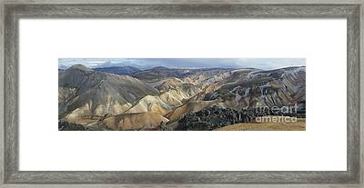 Framed Print featuring the photograph Landmannalaugar Panorama 1 by Rudi Prott
